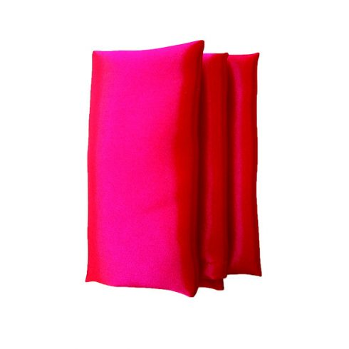 Szatén szalvéta bérlése piros színben