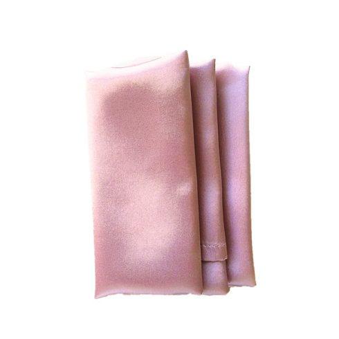 Szatén szalvéta bérlése sötét púderrózsaszín színben