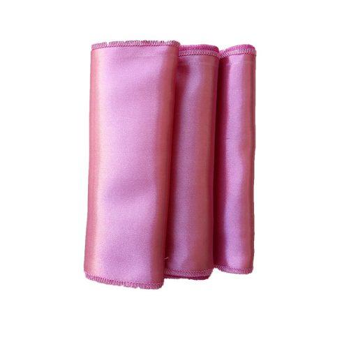 Szatén szalvéta bérlése rózsaszín színben