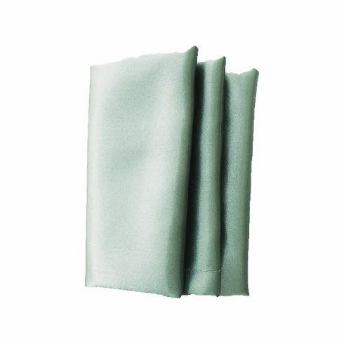 Szatén szalvéta bérlése szürkészöld színben