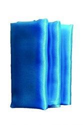 Rent turquoise blue color satin napkin