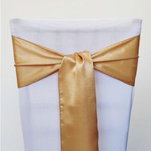 Arany színű szatén székmasni kölcsönzés