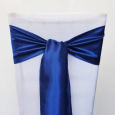 Business kék színű szatén székmasni kölcsönzés