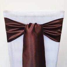Csokibarna színű szatén székmasni kölcsönzés