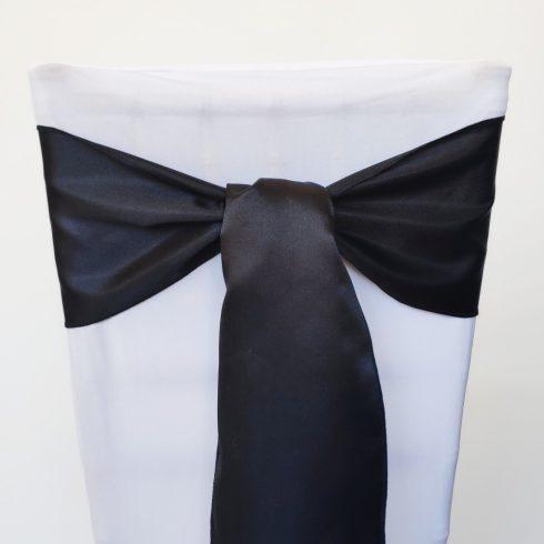 Fekete színű szatén székmasni kölcsönzés