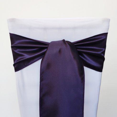 Padlizsán lila színű szatén székmasni kölcsönzés