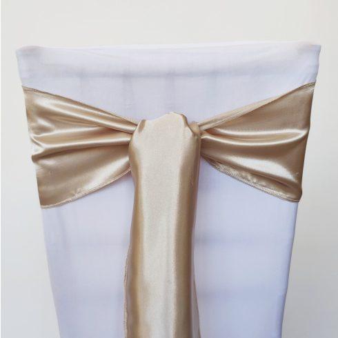Pezsgő színű szatén székmasni kölcsönzés