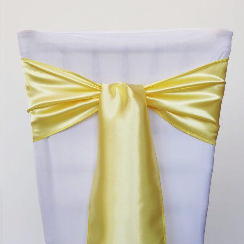 Sárga színű szatén székmasni kölcsönzés