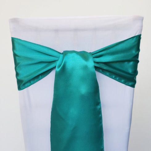 Smaragdzöld színű szatén székmasni kölcsönzés