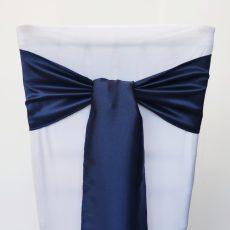 Tengerészkék színű szatén székmasni kölcsönzés