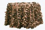 Rent chocolate brown color petal taffeta round tablecloth