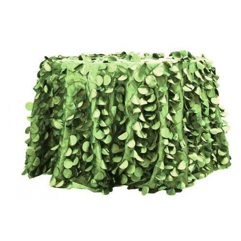 Zöld színű aplikált 3d szirmos körabrosz bérlése