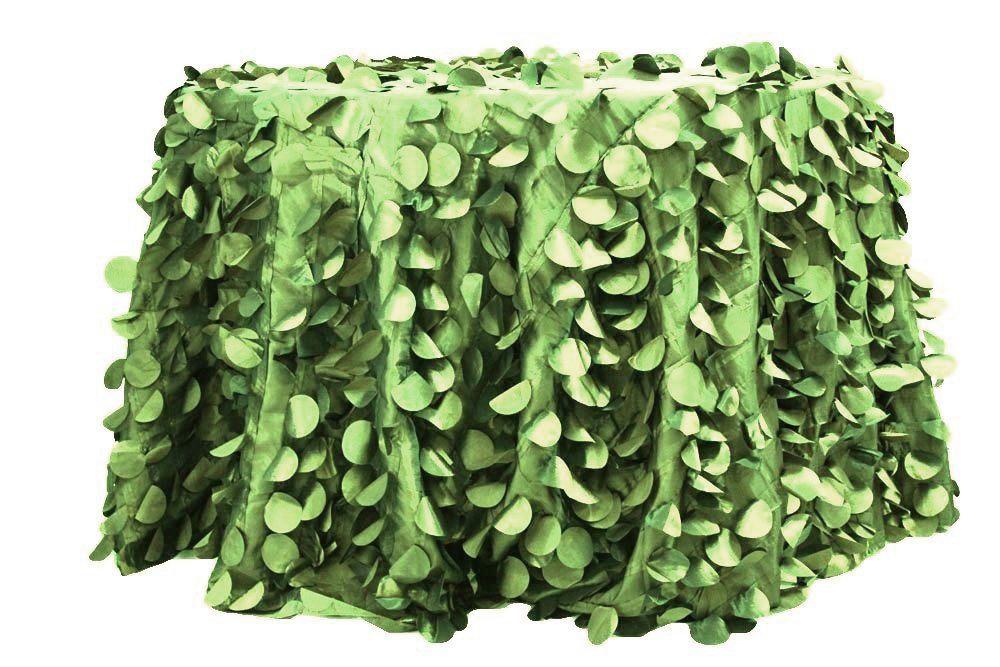 Rent Green Color Petal Taffeta Round Tablecloth Textilguru